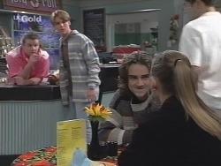 Toadie Rebecchi, Billy Kennedy, Teenage Customer 1, Teenage Customer 2 in Neighbours Episode 2704