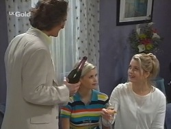 Lord Steven Harrow, Joanna Hartman, Danni Stark in Neighbours Episode 2737