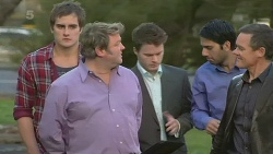 Kyle Canning, Miles Cavandish, Paul Robinson in Neighbours Episode 6256