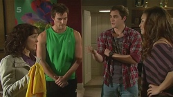 Lorraine Dowski, Rhys Lawson, Kyle Canning, Jade Mitchell in Neighbours Episode 6256