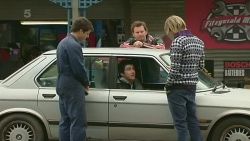 Chris Pappas, Erik Poulos, Lucas Fitzgerald, Andrew Robinson in Neighbours Episode 6257