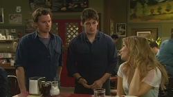 Lucas Fitzgerald, Chris Pappas, Natasha Williams in Neighbours Episode 6258