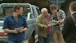 Lucas Fitzgerald, Lou Carpenter, Kyle Canning, Toadie Rebecchi in Neighbours Episode 6261