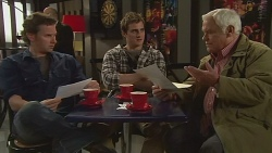 Lucas Fitzgerald, Kyle Canning, Lou Carpenter in Neighbours Episode 6261