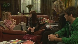 Natasha Williams, Summer Hoyland, Andrew Robinson, Chris Pappas in Neighbours Episode 6265