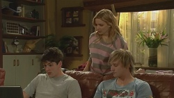 Chris Pappas, Natasha Williams, Andrew Robinson in Neighbours Episode 6270