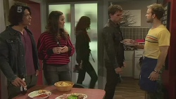 Aidan Foster, Jade Mitchell, Rhys Lawson, Dane Canning in Neighbours Episode 6278