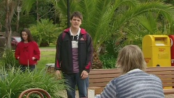 Kate Ramsay, Chris Pappas, Andrew Robinson in Neighbours Episode 6287