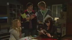 Natasha Williams, Chris Pappas, Andrew Robinson, Summer Hoyland in Neighbours Episode 6288