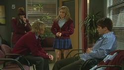 Summer Hoyland, Andrew Robinson, Natasha Williams, Chris Pappas in Neighbours Episode 6290