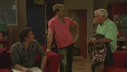 Lucas Fitzgerald, Dane Canning, Lou Carpenter in Neighbours Episode 6291