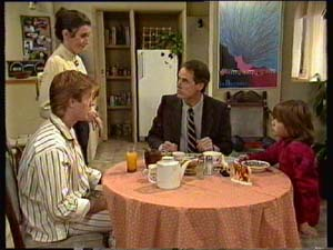 Clive Gibbons, Kate Gibbons, Graham Gibbons, Vicki Gibbons in Neighbours Episode 0307