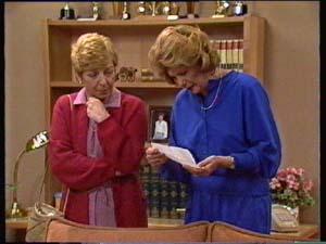 Eileen Clarke, Madge Bishop in Neighbours Episode 0307