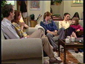 Graham Gibbons, Louise Laurie, Clive Gibbons, Kate Gibbons, Vicki Gibbons in Neighbours Episode 0308