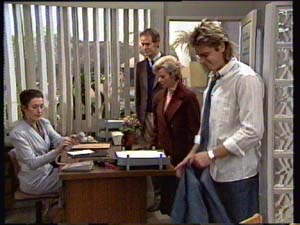 Kate Gibbons, Graham Gibbons, Helen Daniels, Shane Ramsay in Neighbours Episode 0309