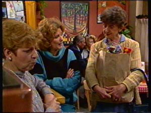 Eileen Clarke, Madge Mitchell, Nell Mangel in Neighbours Episode 0310