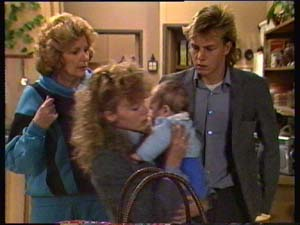 Madge Bishop, Charlene Mitchell, Sam Cole, Scott Robinson in Neighbours Episode 0310