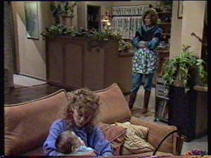 Sam Cole, Charlene Mitchell, Madge Bishop in Neighbours Episode 0311