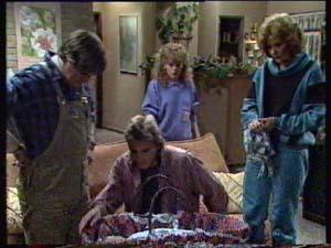 Shane Ramsay, Tom Ramsay, Charlene Mitchell, Madge Bishop, Sam Cole in Neighbours Episode 0311