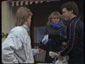 Scott Robinson, Patty Collins, Paul Robinson in Neighbours Episode 0317