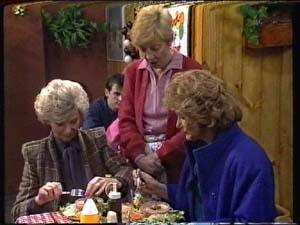 Helen Daniels, Eileen Clarke, Madge Bishop in Neighbours Episode 0322