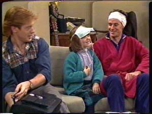 Clive Gibbons, Vicki Gibbons, Graham Gibbons in Neighbours Episode 0324