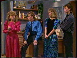 Charlene Mitchell, Scott Robinson, Jane Harris, Mike Young in Neighbours Episode 0324