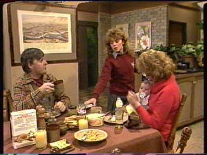 Tom Ramsay, Charlene Mitchell, Sam Cole, Madge Mitchell in Neighbours Episode 0325