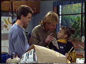 Paul Robinson, Scott Robinson, Lucy Robinson in Neighbours Episode 0327