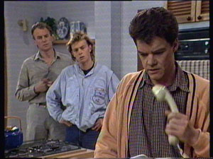 Jim Robinson, Scott Robinson, Paul Robinson in Neighbours Episode 0368