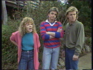 Charlene Mitchell, Shane Ramsay, Scott Robinson in Neighbours Episode 0369