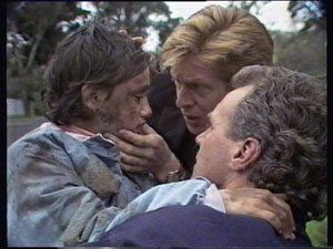 Lucy Robinson, Clive Gibbons, Jim Robinson in Neighbours Episode 0374