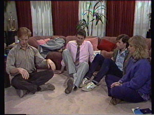 Clive Gibbons, Des Clarke, Mike Young, Jane Harris in Neighbours Episode 0374