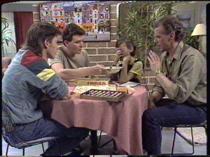 Mike Young, Des Clarke, Lucy Robinson, Jim Robinson in Neighbours Episode 0389