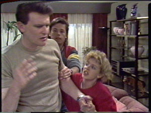 Des Clarke, Mike Young, Charlene Mitchell in Neighbours Episode 0390