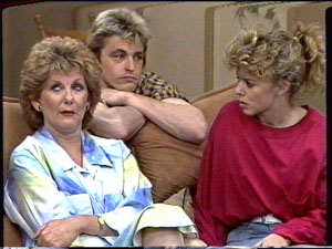 Madge Bishop, Shane Ramsay, Charlene Mitchell in Neighbours Episode 0390