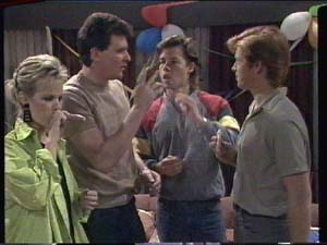 Daphne Clarke, Des Clarke, Mike Young, Clive Gibbons in Neighbours Episode 0391