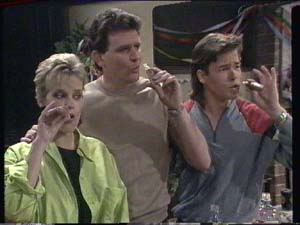 Daphne Clarke, Des Clarke, Mike Young in Neighbours Episode 0391