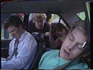 Mike Young, Clive Gibbons, Scott Robinson, Paul Robinson in Neighbours Episode 0392