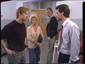 Clive Gibbons, Helen Daniels, Jim Robinson, Paul Robinson in Neighbours Episode 0392