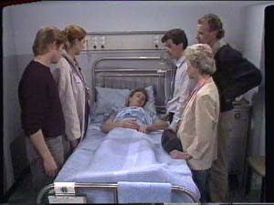 Dr Limon, Clive Gibbons, Scott Robinson, Paul Robinson, Jim Robinson, Helen Daniels in Neighbours Episode 0393
