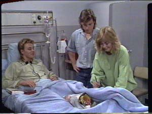 Scott Robinson, Mike Young, Jane Harris in Neighbours Episode 0393
