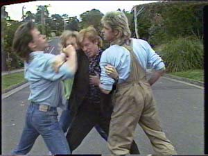 Mike Young, Clive Gibbons, Shane Ramsay in Neighbours Episode 0394