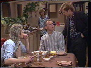 Shane Ramsay, Madge Bishop, Jim Robinson, Clive Gibbons in Neighbours Episode 0394