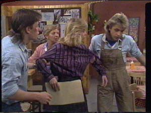 Eileen Clarke, Mike Young, Jane Harris, Shane Ramsay in Neighbours Episode 0394