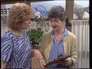 Madge Mitchell, Nell Mangel in Neighbours Episode 0396