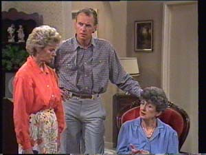 Helen Daniels, Jim Robinson, Nell Mangel in Neighbours Episode 0397
