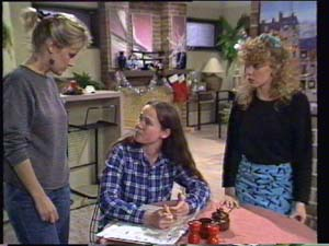 Daphne Clarke, Kelly Morgan, Charlene Mitchell in Neighbours Episode 0397