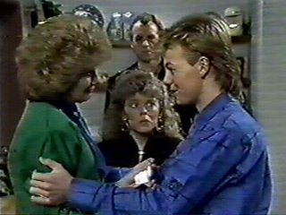 Scott Robinson, Charlene Mitchell, Jim Robinson, Madge Bishop in Neighbours Episode 0521