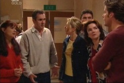 Susan Kennedy, Karl Kennedy, Steph Scully, Joe Scully, Lyn Scully, Drew Kirk in Neighbours Episode 3815